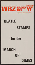Music Memorabilia:Memorabilia, Beatles WBZ Radio 103 March of Dimes Stamp Booklet (US, 1964)....
