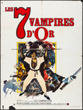 "Movie Posters:Horror, The Legend of the 7 Golden Vampires (Hammer Films, 1974). FrenchGrande (47"" X 63""). Horror.. ..."