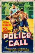 "Movie Posters:Crime, Police Call (Showmens Pictures, 1933). One Sheet (27"" X 41""). Crime.. ..."