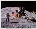 Explorers:Space Exploration, Apollo 15 Moonwalkers-Signed Lunar Surface Color Photo with COA for Scott Signature. ...