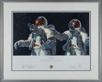 """Alan Bean Signed Limited Edition """"Heavenly Reflections"""" Print, also Signed by Charles Conrad, #442/850, in Fra..."""