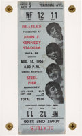 Music Memorabilia:Tickets, Beatles John F. Kennedy Stadium, Philadelphia, August 16, 1966Ticket....