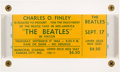 "Music Memorabilia:Tickets, Beatles Kansas City ""Extra Show"" Unused Concert Ticket, September17, 1964...."