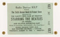 Music Memorabilia:Tickets, Beatles Sam Houston Coliseum, Houston, Texas August 19, 1965 Concert Ticket Stub....