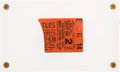 Music Memorabilia:Tickets, Beatles Philadelphia Concert Hall Concert Ticket Stub (1964), inAcrylic Display. ...