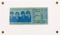 Music Memorabilia:Tickets, Beatles New York Shea Stadium Concert Ticket Stub (1966), in Acrylic Display. ...