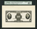 Canadian Currency, Toronto, ON- Imperial Bank of Canada $10 11.1.1933 Ch.#375-20-04FPa Front Proof and Vignette.. ... (Total: 2 notes)