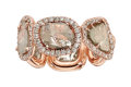 Estate Jewelry:Rings, Diamond, Rose Gold Eternity Band  The eternity...