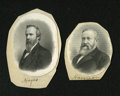 Miscellaneous:Other, Engraved Portraits of Presidents Rutherford Hayes and BenjaminHarrison. These portraits have been mounted on thick card.. ...(Total: 2 items)