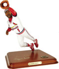 Autographs:Others, Ozzie Smith Signed Danbury Mint Figurine. The Wizard snags a lineras a perfectly miniaturized figurine. Exceptional liken...