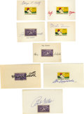 Autographs:Others, Baseball Personalities Signed Stamps Lot of 8. Each eight stamps that we offer here has been mounted onto an unlined index ...