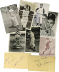 Autographs:Others, 1940s-50s Baseball Stars Signed Postcards and Ephemera Lot of 61.Wide variety of signatures from stars who plied their tra...