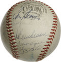Autographs:Baseballs, 1969 New York Mets World Champion Team Signed Baseball. The MiracleMets from 1969, led by manager Gil Hodges, are represen...