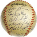 Autographs:Baseballs, 1962 Amarillo Gold Sox Team Signed Baseball. Excellent vintageexample of a team signed minor league baseball from the 1962...