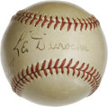 Autographs:Baseballs, Vintage Leo Durocher Single Signed Baseball. An ONL (Frick) ball serves as the medium for this Hall of Fame single, inscrib...