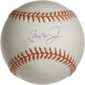 Autographs:Baseballs, Cal Ripken Jr. Single Signed Baseball. Baseball's Iron Man CalRipken, Jr. provides is with a sweet spot signature to the s...