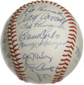 Autographs:Baseballs, 1970 Cincinnati Reds Team Signed Baseball. Hall of Fame manager ledhis Cincinnati Reds to dynasty status beginning with an...
