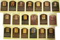 Autographs:Post Cards, Signed Gold Hall of Fame Plaques Lot of 19. Nineteen Hall of Famesignatures appear here with this collection of gold Hall ...