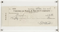 1936 Babe Ruth Double Signed Check. The fabulous allure that comes with a Babe Ruth check is at least doubly intensified...
