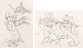 Animation Art:Production Drawing, Mother Goose Goes to Hollywood Marx Brothers AnimationDrawings Group of 2 (Walt Disney, 1938)... (Total: 2 Original Art)