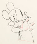 Animation Art:Production Drawing, The Worm Turns Mickey Mouse Animatio...