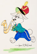 Animation Art:Production Drawing, Honey Bunny Drawing Signed by Tom McKimson (Warner Brothers,1980s)....