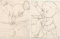Original Comic Art:Illustrations, Robert McKimson - Porky Pig Coloring Book Illustrations Gr...