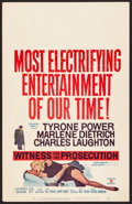 """Movie Posters:Mystery, Witness for the Prosecution (United Artists, 1958). Very Fine.Window Card (14"""" X 22""""). Mystery.. ..."""