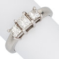 Estate Jewelry:Rings, Diamond, White Gold Ring The ring features thr...
