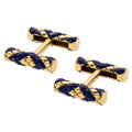 Estate Jewelry:Cufflinks, Enamel, Gold Cuff Links, Cartier . ...