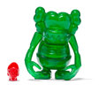 Fine Art - Sculpture, American:Contemporary (1950 to present), KAWS X Bounty Hunter. Skull Kun (Green), 2006. Cast vinyl.6-1/2 x 5-1/4 x 3-1/4 inches (16.5 x 13.3 x 8.3 cm) (toy body...