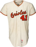 Baseball Collectibles:Uniforms, 1969 Charlie Lau Game Worn Baltimore Orioles Jersey....