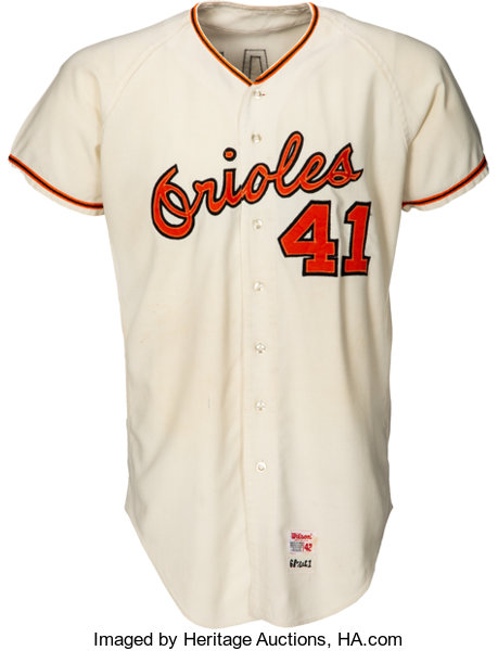 low priced 53f38 05e65 1969 Charlie Lau Game Worn Baltimore Orioles Jersey ...