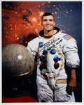 Autographs:Celebrities, Fred Haise Signed White Spacesuit Color Photo. ...