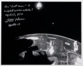 Autographs:Celebrities, Fred Haise Signed Apollo 13 Lost Moon and Crippled Service Module Photo. ...