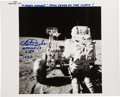 Explorers:Space Exploration, Charlie Duke Signed Apollo 16 Lunar Surface Original NASA Photo Originally from His Personal Collection, Signed and Certified....