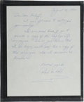 Autographs:Celebrities, X-15 Record-Setter Robert M. White Autograph Letter Signed withColor Photo. ... (Total: 2 Items)
