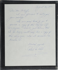 X-15 Record-Setter Robert M. White Autograph Letter Signed with Color Photo