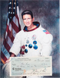 Explorers:Space Exploration, Jim Irwin Signed Company Check Dated 1984....
