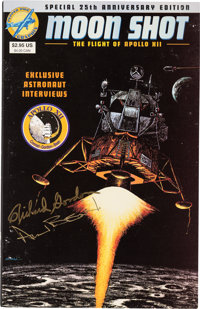 Moon Shot, The Flight of Apollo 12 Comic Book Signed by Crewmembers Alan Bean and Richard Gordon.</