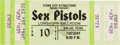 Music Memorabilia:Tickets, Sex Pistols Longhorn Ballroom Dallas Unused Concert Ticket (StoneCity Attractions, 1978). Rare....