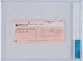 Music Memorabilia:Autographs and Signed Items, George Harrison / Harrisongs Ltd. Signed Check....