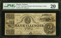 Obsoletes By State:Illinois, Jackson, IL- Exporting Mining and Manufacturing Company's Bank of Illinois $2 July 4, 1837. ...