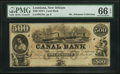 Obsoletes By State:Louisiana, New Orleans, LA- Canal Bank $500 18__ Remainder. ...