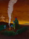 Paintings, Lee N. Smith (American, b. 1950). Dangerous Ground, 1991. Oil on canvas. 51-1/4 x 38-1/4 inches (130.2 x 97.2 cm). Signe...
