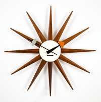 George Nelson (American, 1908-1986) Sunburst Wall Clock Model 2202B, designed 1952, produced circa 1960