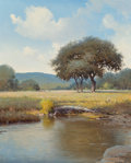 Fine Art - Painting, American, Jerry Ruthven (American, b. 1947). By the Pond, 1979. Oil oncanvas. 30 x 24 inches (76.2 x 61.0 cm). Signed and dated l...