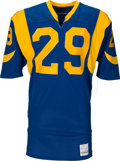 Football Collectibles:Uniforms, 1983 Eric Dickerson Game Worn & Signed Los Angeles Rams Rookie Jersey--Photo Matched!...