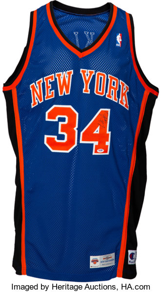 timeless design 4fe69 6c2be 1996-97 Charles Oakley Game Worn New York Knicks Jersey with ...