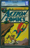 Golden Age (1938-1955):Superhero, Action Comics #38 (DC, 1941) CGC FN+ 6.5 Off-white to white pages.